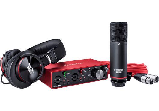 Focusrite Scarlett 2i2 Studio Set G3 2-in, 2-out USB audio interface